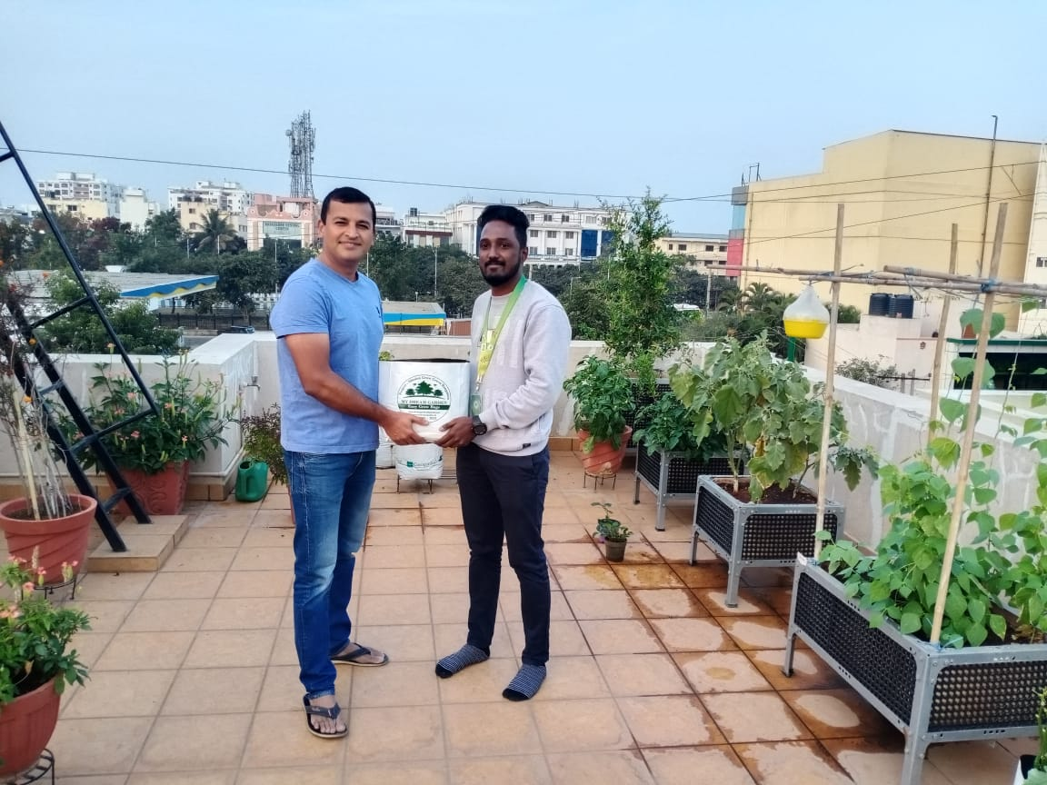 Dr. Rajesh Naik with My Dream Garden and his wonderful journey