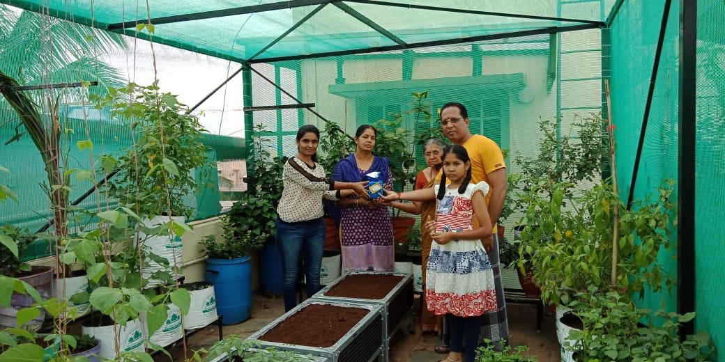 Customer Terrace Garden Visit from MD